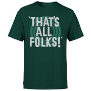 Looney Tunes That's All Folks Men's T-Shirt - Forest Green