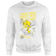 Looney Tunes Tweety Pie More Puddy Tats Sweatshirt - White