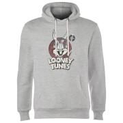 Looney Tunes Bugs Bunny Circle Logo Hoodie - Grey