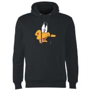 Looney Tunes Daffy Duck Face Hoodie - Black