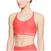 Under Armour Women's Mid Keyhole Sports Bra - Orange