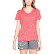 Under Armour Women's Tech V-Neck T-Shirt - Pink