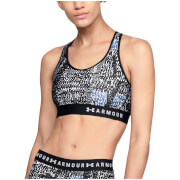 Under Armour Women's Keyhole Print Sports Bra - Black/White
