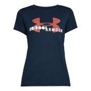 Under Amour Women's Graphic Tech T-Shirt - Navy Blue