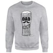 Awesome Dad Beer Glass Sweatshirt - Grey
