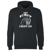 Happy First Fathers Day Hoodie - Black