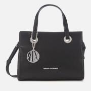 Armani Exchange Women's Small Shopper With Cross Body Bag - Black