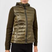 Superdry Women's SD Storm Hybrid Zip Hood Jacket - Khaki/Khaki Grit