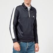 AMI Men's Half Zip Sweatshirt - Navy
