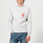 AMI Men's Patch Sweatshirt - Heather Grey