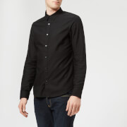 Armani Exchange Men's Slim Textured Long Sleeve Shirt - Black