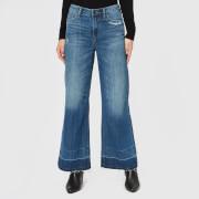 Armani Exchange Women's Wide Leg Cropped Jeans - Indigo Denim