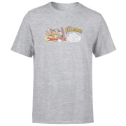The Flintstones Family Car Distressed Men's T-Shirt - Grey