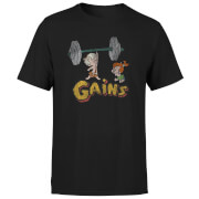 The Flintstones Distressed Bam Bam Gains Men's T-Shirt - Black