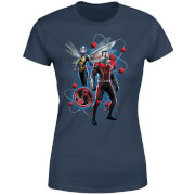 Ant-Man And The Wasp Particle Pose Women's T-Shirt - Navy