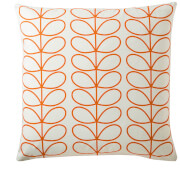 Orla Kiely Small Linear Stem Cushion - Persimmon