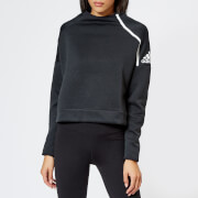 adidas Women's ZNE Crew Neck Sweatshirt - Heather/Black