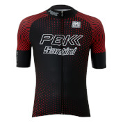 PBK Santini 19 Classic Team Jersey - Black/Red