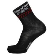 PBK Santini 19 High Profile Cool Max Socks - Black/Red