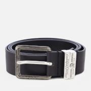 Diesel Men's Guarantee Leather Belt - Black