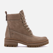 Timberland Women's Courmayeur Valley Leather Lace Up Boots - Taupe Grey