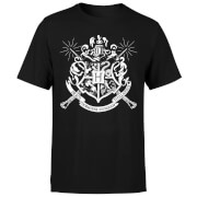 Harry Potter Hogwarts House Crest Herren T-Shirt - Schwarz