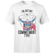 DC Originals Superman Commitment Type Men's T-Shirt - White