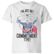 DC Originals Superman Commitment Type Kids' T-Shirt - White