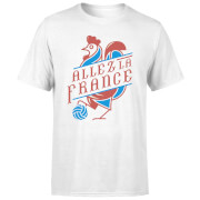 T-Shirt Homme Allez La France Football - Blanc