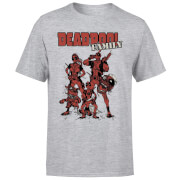 T-Shirt Homme Deadpool Photo de Famille Marvel - Gris
