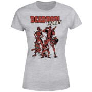 Marvel Deadpool Family Group Women's T-Shirt - Grey