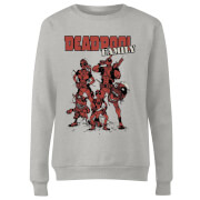 Marvel Deadpool Family Group Women's Sweatshirt - Grey
