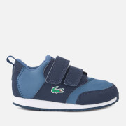 Lacoste Toddler's Light 318 1 Textile Runner Style Trainers - Navy/Dark Blue