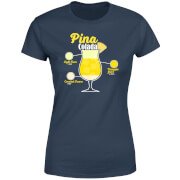 Infographic Pinacolada Women's T-Shirt - Navy