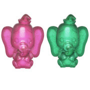 Disney Dumbo Pink and Green Hikari XS Vinyl Figure 2 Pack