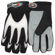 Coyote MTB/BMX Full Finger Cycling Gloves - Black/White