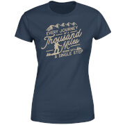 Every Journey Begins With A Single Step Women's T-Shirt - Navy