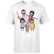 Bobs Burgers Family Looking Up Men's T-Shirt - White