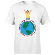 Bobs Burgers A World Without A Gene Men's T-Shirt - White
