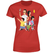 Bobs Burgers Family Pose Women's T-Shirt - Red
