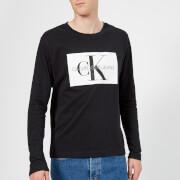 Calvin Klein Jeans Men's Monogram Box Logo Long Sleeve T-Shirt - CK Black