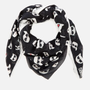 Karl Lagerfeld Women's K/Ikonik Allover Scarf - Black