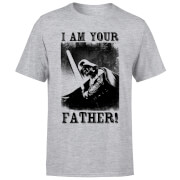 Star Wars Darth Vader I Am Your Father Lightsaber Men's T-Shirt - Grey