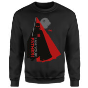 Star Wars Darth Vader I Am Your Father Dark Side Silhouettes Sweatshirt - Black