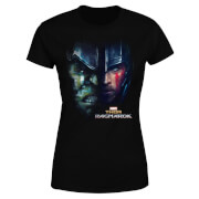 Marvel Thor Ragnarok Hulk Split Face Women's T-Shirt - Black