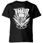 Marvel Thor Ragnarok Thor Hammer Logo Kinder T-Shirt - Schwarz