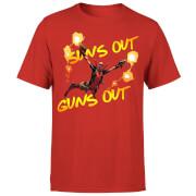 Marvel Deadpool Suns Out Guns Out Herren T-Shirt - Rot