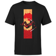 Marvel Deadpool Blood Strip Men's T-Shirt - Black