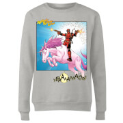 Marvel Deadpool Unicorn Battle Damen Pullover - Grau