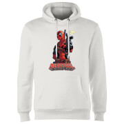 Sweat à Capuche Homme Deadpool Hey You Marvel - Blanc